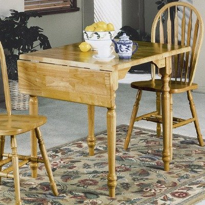 Sunset Selections Small Drop Leaf Extension Table Finish: Antique Black / Cherry