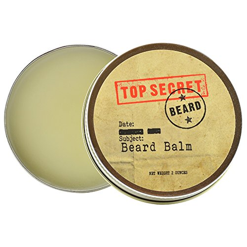 Beard Balm By Top Secret Beard - Softens The Skin, Boosts Beard Growth, Eliminates Flakes & Relieves From Itchiness - Made Of 100% Natural Ingredients - 2 oz Screw Top Tin