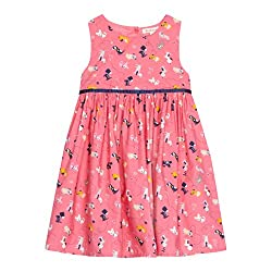 Bluezoo Kids Girl's Pink Dog Printed Prom Dress from bluezoo