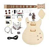 niceeshop(TM) Basswood Body Mahogany Neck Strat DIY Semi-finished Electric Guitar Kit (Burlywood Color)