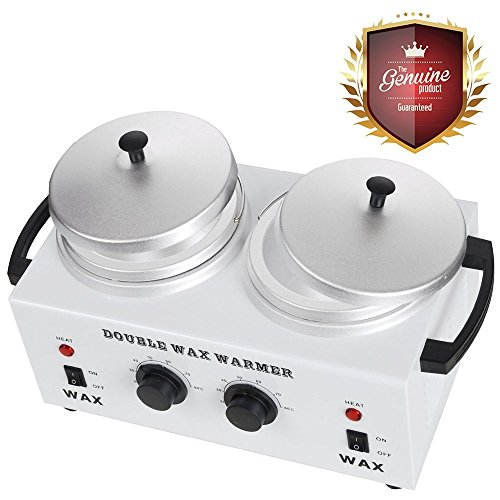 Koval Inc. Deluxe Professional Double Hair Wax Warmer, Electric Wax Heater Machine (White 11 3/4