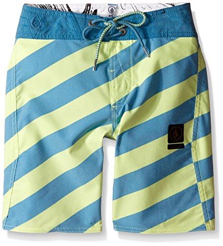 Volcom Big Boys Stripey Slinger Boardshort, Lime Ice, 26