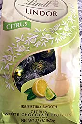 Lindt Lindor Citrus White Chocolate Truffles - 22 Oz