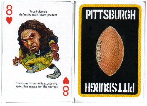 Troy Polamalu Pittsburgh Steelers Football/Playing Card