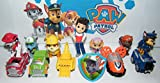 Nickelodeon PAW Patrol Toy Figure Set of 13 with the 6 Puppies, 5 Vehicles, Ryder and a Special ToyRing!