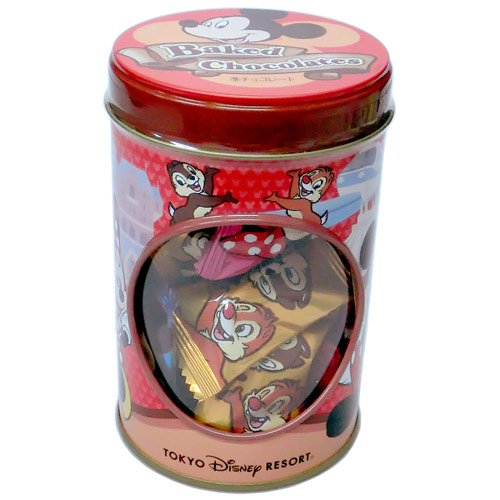 ミッキー&フレンズ 缶入りベイクドチョコレート お菓子【ディズニーリゾート限定】
