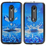 DMG Premium 3D TPU Protective Back Cover Case For Motorola Moto G 3rd Gen 2015 Edition XT1540 (Water Drops)