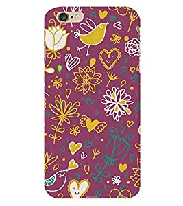 Love Bird Cute Fashion 3D Hard Polycarbonate Designer Back Case Cover for Apple iPhone 6S
