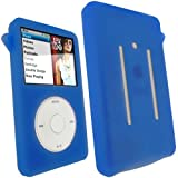IGadgitz Silicone Skin Case Cover with Screen Protector, Lanyard for Apple iPod Classic 80GB, 120GB & 160gb launched Sept 09 - Blue