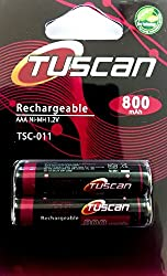 Tuscan AAA 800 mAh Rechargeable Battery