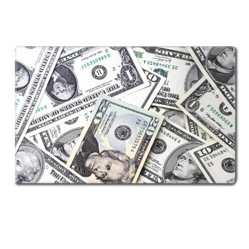 Paper Bill American Currency Dollar Table Mats Customized Made To Order Support Ready 24 Inch (610Mm) X 14 15/16 Inch (380Mm) X 1/8 Inch (4Mm) High Quality Eco Friendly Cloth With Neoprene Rubber Msd Deskmat Desktop Mousepad Laptop Mousepads Comfortable C