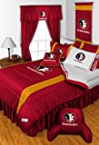 Florida State Seminoles 3 Pc TWIN Comorter Set and One Matching Window Valance/Drape Set - (1 Comforter, 1 Sham, 1 Bedskirt, 1 Matching Window Valance/Drape Set) SAVE BIG ON BUNDLING! at Amazon.com