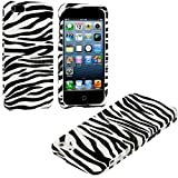 myLife (TM) White + Black Zebra Stripes Series (2 Piece Snap On) Hardshell Plates Case for the iPhone 5/5S (5G... by myLife Brand Products