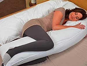 Oversized - Total Body Pregnancy Pillow- Full Support - w/ Zippered Cover - Exclusively By Blowout Bedding RN# 142035