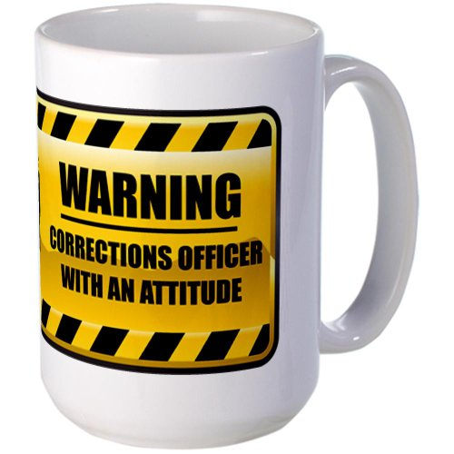 CafePress - Warning Corrections Officer Large Mug - Coffee Mug, Large 15 oz. White Coffee Cup (Corrections Officer Coffee Cup compare prices)