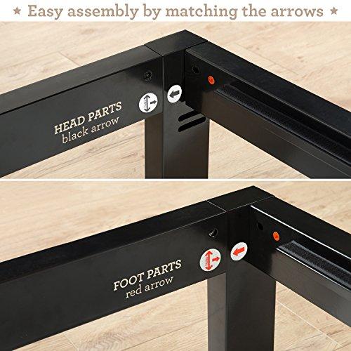 Zinus Modern Studio 10 Inch Platform 2000 Metal Bed Frame/Mattress Foundation, no Boxspring needed, Wooden Slat Support, Queen