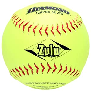 Buy Diamond Sports ASA 12-Inch Slowpitch Synthetic Cover Softball (12-Pack) by Diamond Sports