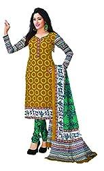 AMP IMPEX EthnicwearWomen's Dress Material(KOMALSPL6016_Yellow_Free Size)