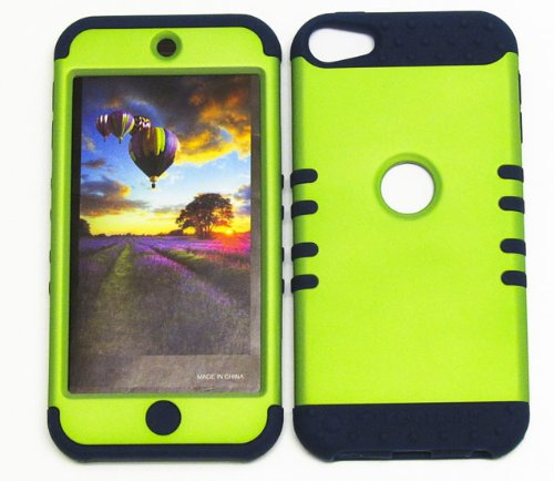 Shockproof Hybrid Cover Protector Faceplate Hard Case And Dark Blue Skin With Mini Stylus Pen. Kool Kase Rocker For Apple Ipod Itouch 5 Green Db-A008-Pd