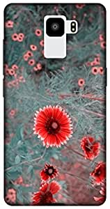 The Racoon Grip hippie daisies dull hard plastic printed back case / cover for Huawei Honor 7