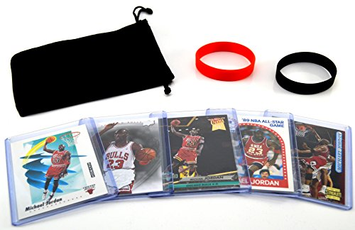 Michael Jordan MJ (5) Basketball Cards - Chicago Bulls Assorted NBA Trading Cards - MVP # 23 (Pic Could compare prices)
