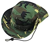 Albabara Men's Camo Wide Brim Boonie Army Hungting Sun Hats, Camo