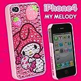 マイメロディ☆iPhone4専用カバーiDress(キラキラスト-ンタイプ/ピンク) ID-38MM
