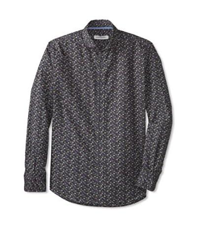 James Campbell Men's Long Sleeve Caborca Print Shirt