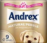 Andrex Natural Pebble Toilet Tissue Rolls - 240 Sheets per Roll (9)