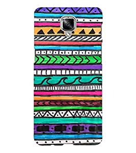 EPICCASE crayon drawings Mobile Back Case Cover For OnePlus Three (Designer Case)