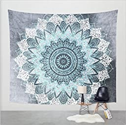 Indian Wall Hanging Tapestry & Beach Towel Elephant Yoga Mat 150cm X 130cm (Snowflake)