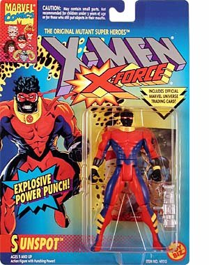 X Men X-Force Sunspot Figure with Explosive Power Punch - 1