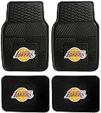 NBA Los Angeles Lakers Car Floor Mats Heavy Duty 4-Piece Vinyl - Front and Rear