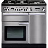 Rangemaster 90cm Professional Plus Dual Fuel Range Cooker Stainless Steel