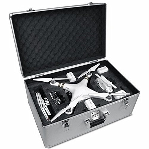 Aluminum Hard-Shell Case with Adjustable Foam for DJI Phantom 1, Phantom 2, and Phantom 3 Drones (Big Camera Case compare prices)