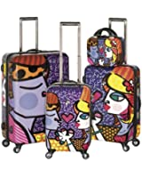 Heys USA Luggage Britto Couple Hard Side 4 Piece Luggage Set