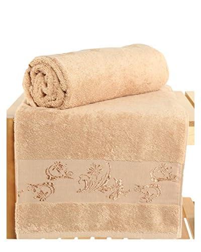 Maisonette Supima 2-Piece Bath Towel Set, Brown