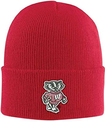 NCAA Wisconsin Badgers Acrylic Watch Hat, Red, One Size