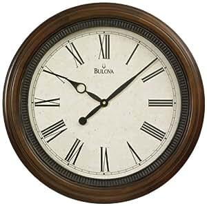 Bulova North Hampton Large Deco Wall Clock C4108 Home Kitchen