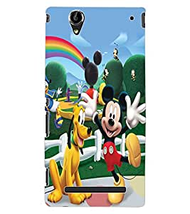 ColourCraft Lovely Cartoon Characters Design Back Case Cover for SONY XPERIA T2 ULTRA