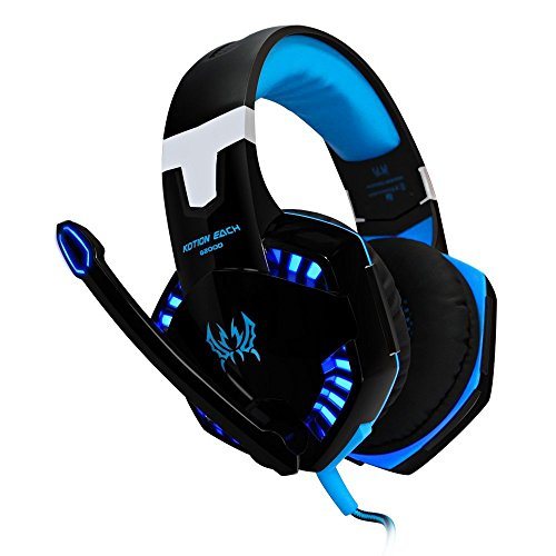 VersionTech-G2000-Stereo-Gaming-Headset-for-PS4-Bass-Over-ear-Headphones-with-Mic-and-LED-Lights-for-Laptop-PC-Computer-SmartphonesBlue