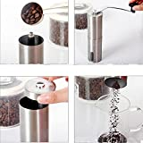 Generic New 1Pc Portable Manual Coffee Grinder Coffee Maker Ceramic Corn Stainless Steel Hand Burr Mill Grinder...