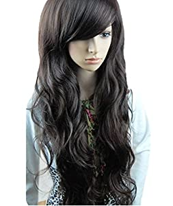 Sexy Long Full Wig (Model: Jf010031) (Dark Brown)