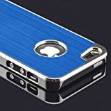 Zonewire® NEW DELUXE STYLISH BLUE CHROME SERIES IPHONE 5 5S & MIRRORED SCREEN PROTECTOR