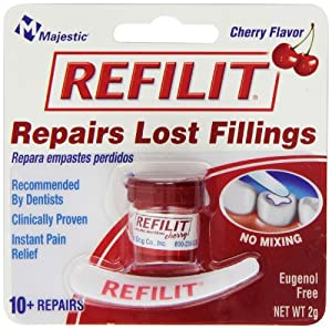 Refilit Temporary Cement Exclusively For Lost Fillings, Cherry Flavor, 2g Blister Pack (Pack of 6)