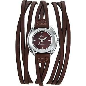 GO Girl Only - 696271 - Montre Femme - Quartz Analogique - Cadran Marron - Bracelet Cuir Marron