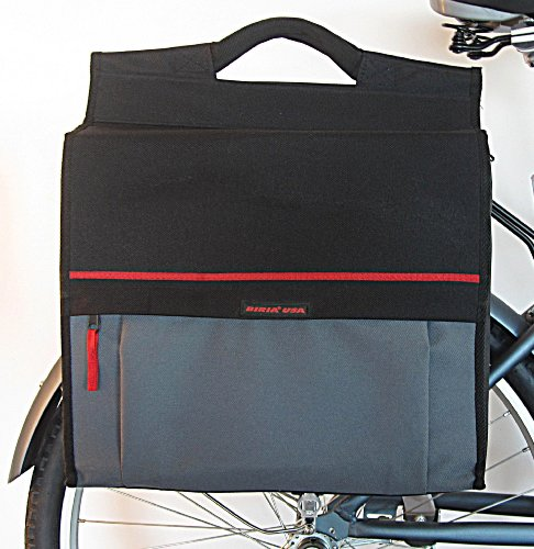 Pannier Shopping hard case bag class great for laptop computer for bicycle by Biria