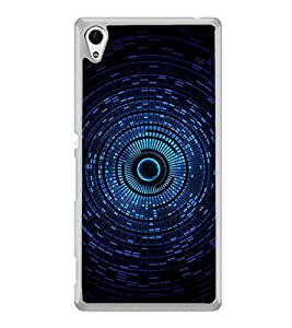 Blue Circular Pattern 2D Hard Polycarbonate Designer Back Case Cover for Sony Xperia Z4