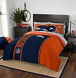 """NFL Denver Broncos Soft & Cozy Full Comforter Set (7 Piece), 76"""" x 86"""", Blue"""