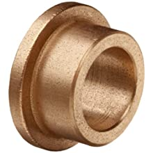 "Bunting Bearings EF060804 Flanged Bearings, Powdered Metal SAE 841, 3/8"" Bore x 1/2"" OD x 1/4"" Length 11/16"" Flange OD x 1/16"" Flange Thickness (Pack of 3)"